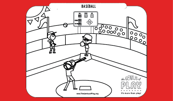 Baseball Coloring Sheet