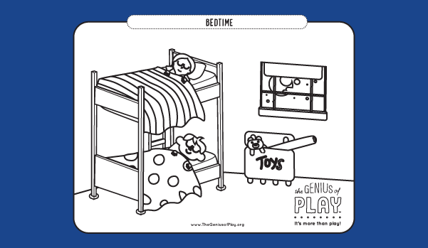 Bedtime Coloring Sheet