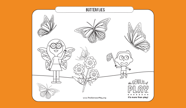 Butterflies Coloring Sheet