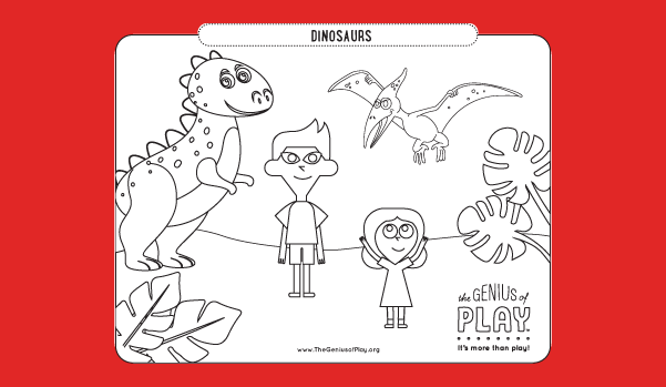 Dinosaurs Coloring Sheet