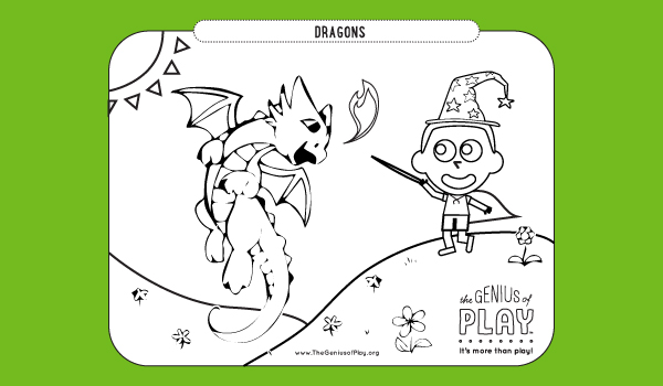 Dragons Coloring Sheet