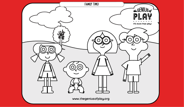 Family Time Coloring Sheet