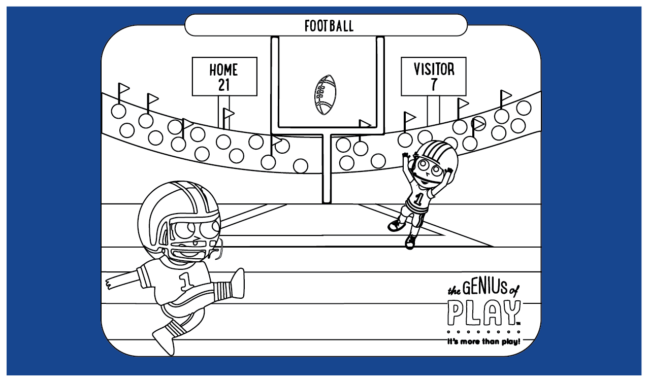 Football Coloring Sheet