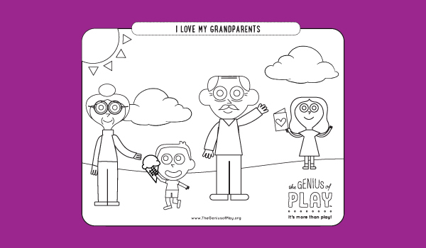 Grandparents Day Coloring Sheet