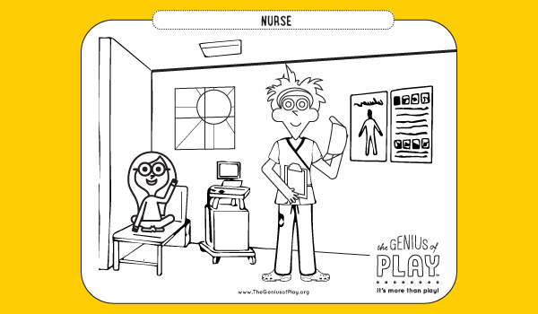 Nurse Coloring Sheet