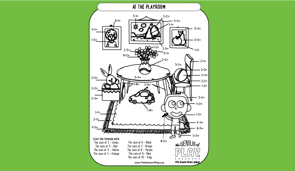 Playroom Coloring Sheet