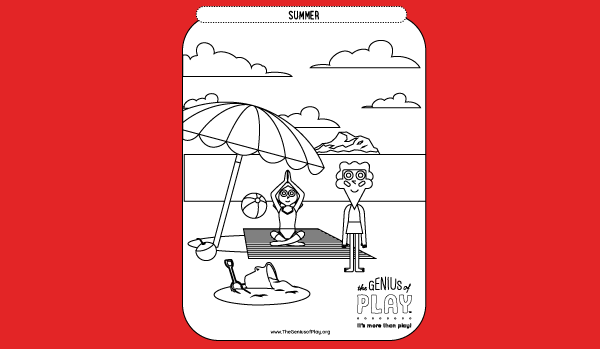Summer Coloring Sheet