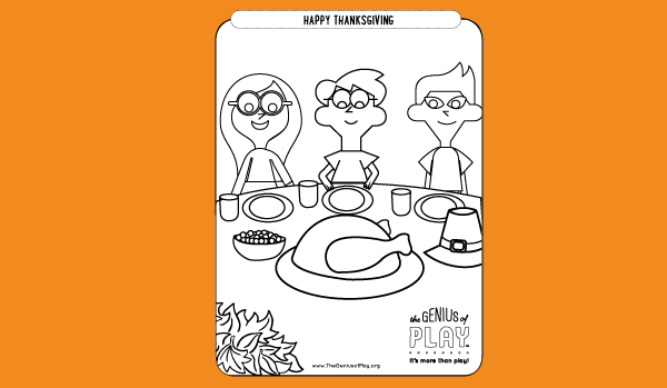 Thanksgiving Coloring Sheet