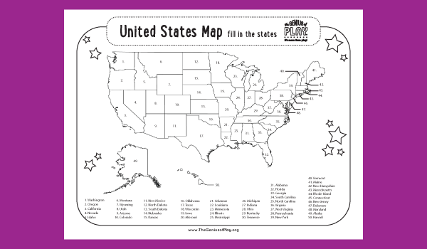United States Map Coloring Sheet