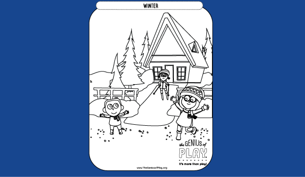 Winter Coloring Sheet