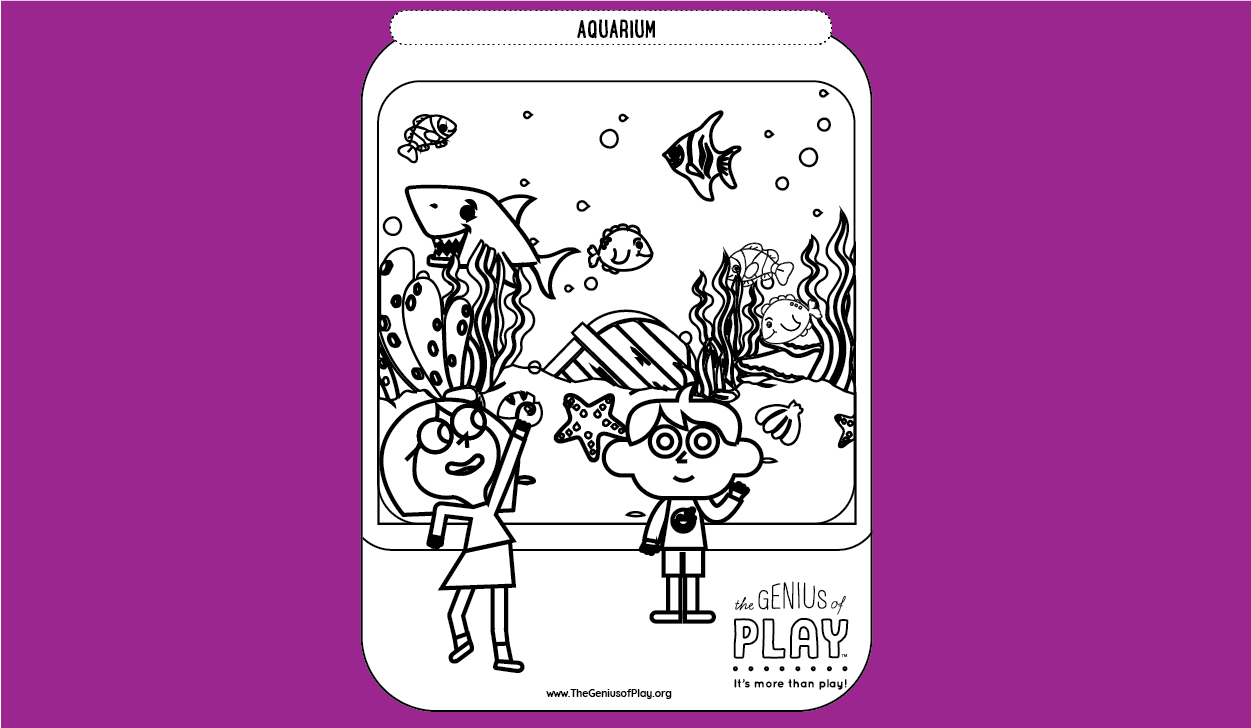 Aquarium Coloring Sheet