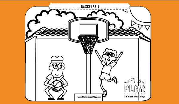 Basketball Coloring Sheet