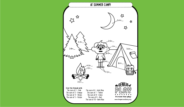 Summer Camp Coloring Sheet