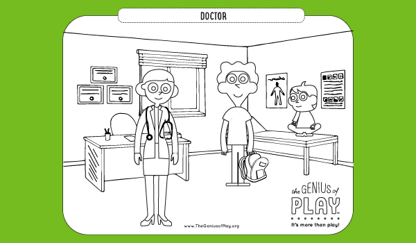 Doctor Coloring Sheet