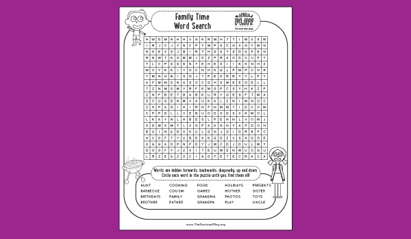 Family Time Activity Sheet