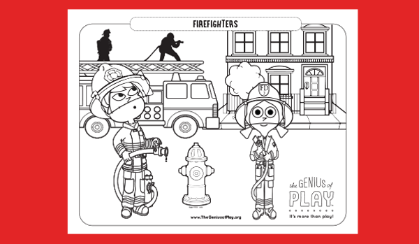 Firefighters Coloring Sheet