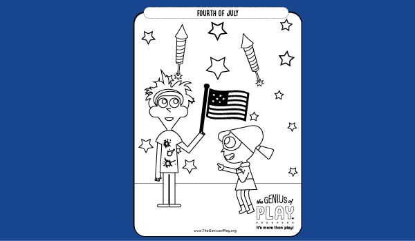 Fourth of July Coloring Sheet