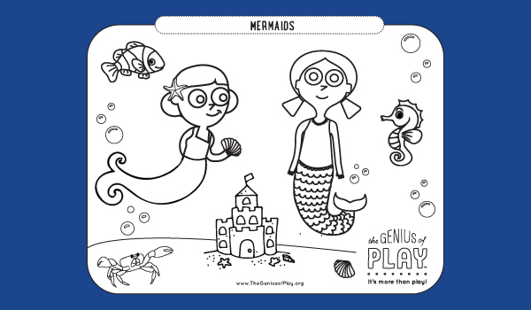 Mermaids Coloring Sheet