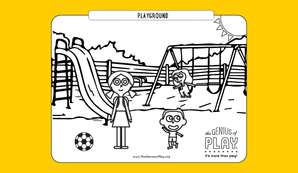 Playground Coloring Sheet