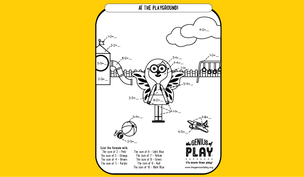 At The Playground Coloring Sheet