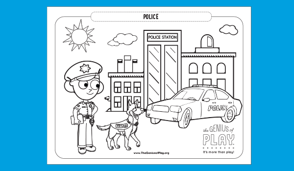 Police Coloring Sheet