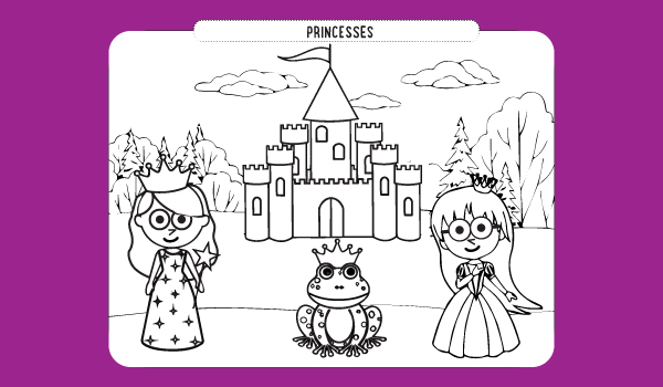 Princesses Coloring Sheet