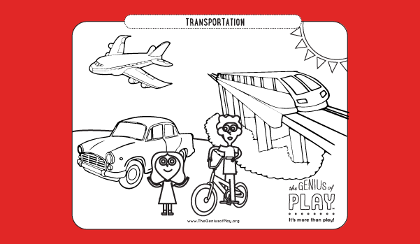 Transportation Coloring Sheet