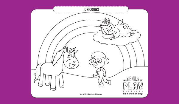 Unicorns Coloring Sheet