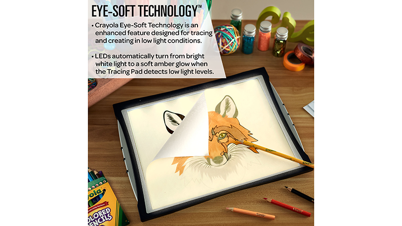 Crayola Light-Up Tracing Pad with Eye-Soft-Technology