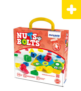 Miniland Educational Activity Nuts & Bolts Set