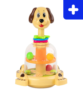 Push and Spin Dog Toy