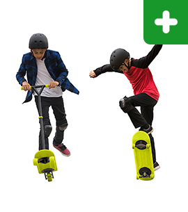 MorfBoard Skateboard and Scooter Combo Set