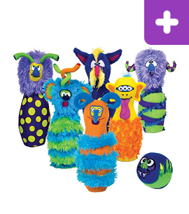 Monster Plush Bowling Game